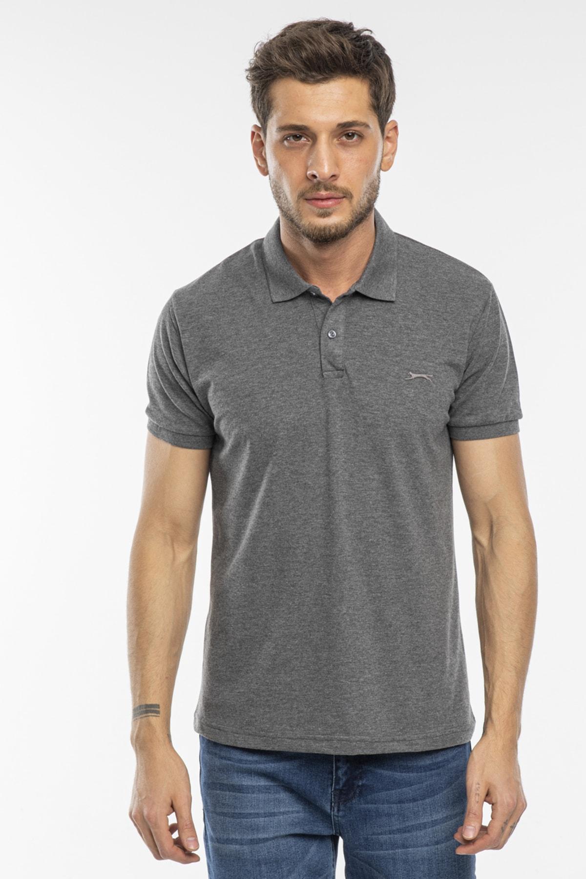 Salvator Erkek T-shirt Antrasit St11te081
