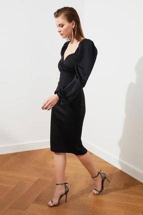 TRENDYOLMİLLA Siyah Kol Detaylı Elbise TPRSS20EL1010 1