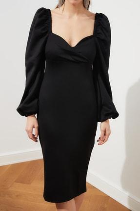 TRENDYOLMİLLA Siyah Kol Detaylı Elbise TPRSS20EL1010 2