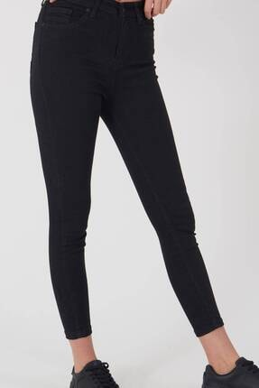 Addax Kadın Siyah Yüksek Bel Pantolon Pn8560 - Pnspnt Adx-0000014371 3
