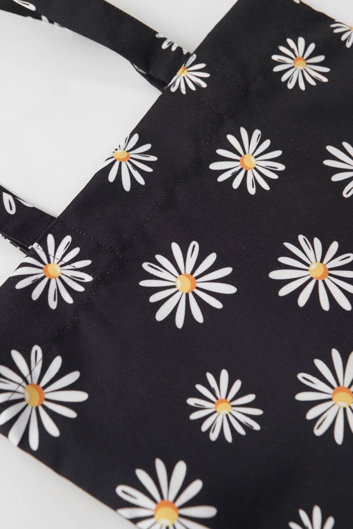Addax Kadın Siyah Desenli Çanta Ç21 - F8 Adx-0000023816 1