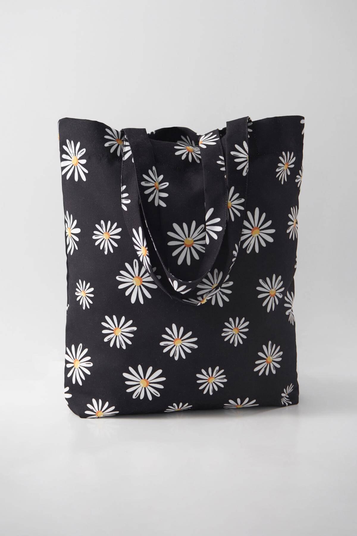Addax Kadın Siyah Desenli Çanta Ç21 - F8 Adx-0000023816 3