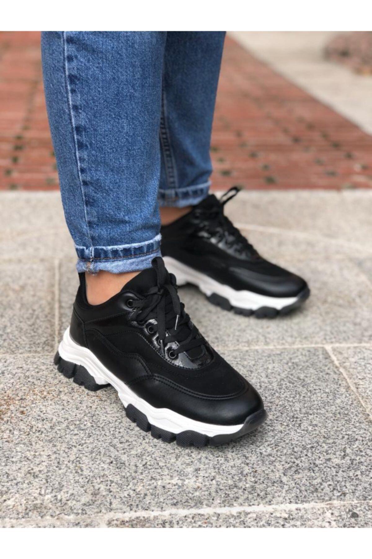 Les Shoes Kadın Lucca Siyah Sneaker