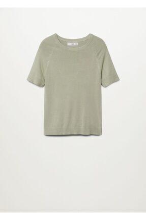 Mango Kadın Yeşil Bluz -- 2