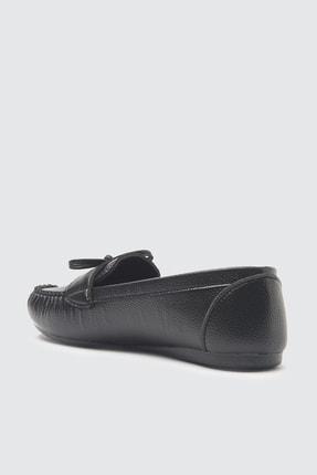 TRENDYOLMİLLA Siyah Fiyonklu Kadın Loafer Ayakkabı TAKSS21LO0004 3