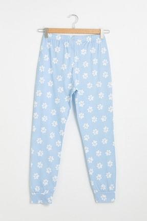 LC Waikiki Kadın Açık Mavi Baskılı Pijama Altı 1