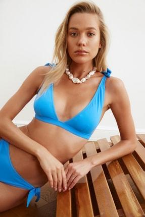 TRENDYOLMİLLA Mavi Bağlama Detaylı Bikini Üstü TBESS21BU0154 1