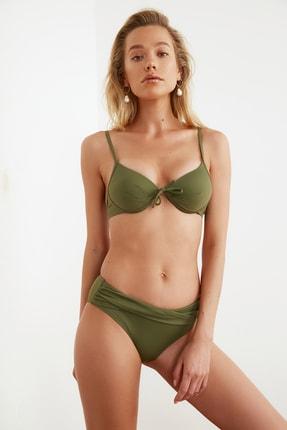 TRENDYOLMİLLA Haki Drapeli Bikini Altı TBESS20BA0217 2