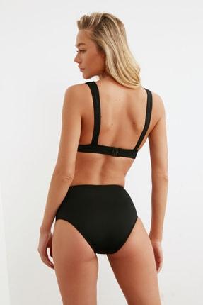 TRENDYOLMİLLA Siyah Cut Out Detaylı Yüksek Bel Bikini Altı TBESS20BA0184 3