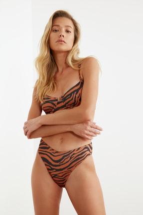 TRENDYOLMİLLA Zebra Desenli Normal Bel Bikini Altı TBESS21BA0037 1