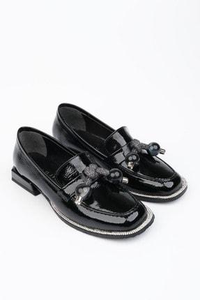 Marjin Kadın Siyah Rugan Loafer Ayakkabı Favol 4