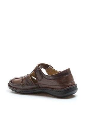 Fast Step Erkek Hakiki Deri Taba Klasik Sandalet 662ma119b 2