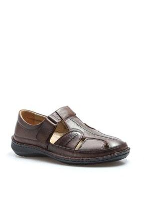 Fast Step Erkek Hakiki Deri Taba Klasik Sandalet 662ma119b 3