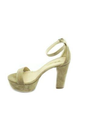 PUNTO Kadın Çift Platform Kalın Topuk Sıyah-Süet Ayakkabı 2