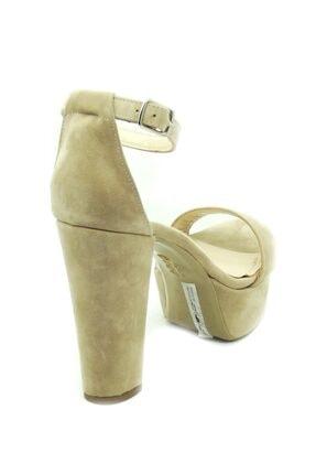 PUNTO Kadın Çift Platform Kalın Topuk Sıyah-Süet Ayakkabı 3