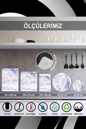 Saban My Kitchen My Rules Cam Kesme Tahtası Cam Kesme Tablası 30 cm X 40 cm 2