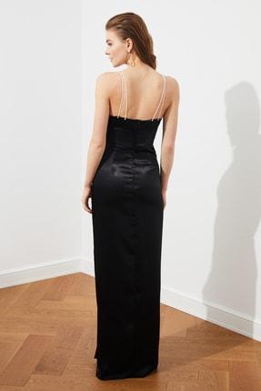 TRENDYOLMİLLA Siyah İnci Askılı Abiye & Mezuniyet Elbisesi TPRSS20AE0127 4
