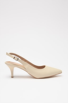 Hotiç Bej Kadın Klasik Topuklu Ayakkabı 01AYH205370A310 1