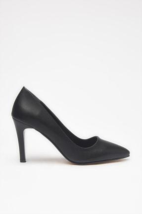 Yaya by Hotiç Suni Deri Siyah Kadın Klasik Topuklu Ayakkabı 01AYY209070A100 1