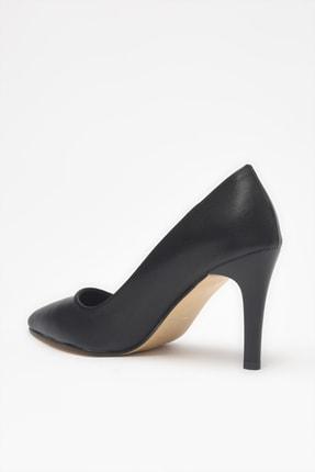 Yaya by Hotiç Suni Deri Siyah Kadın Klasik Topuklu Ayakkabı 01AYY209070A100 3