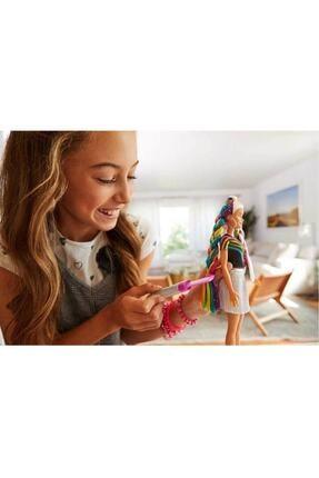 Barbie Gökkuşağı Renkli Saçlar Bebeği FXN96 T000FXN96 2