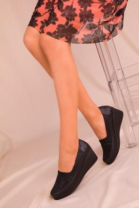 Soho Exclusive Siyah Kadın Dolgu Topuklu Ayakkabı 15979 1