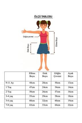 Zeze Kostüm Kız Çocuk Turuncu Taş Devri Çakıl Kostümü 2