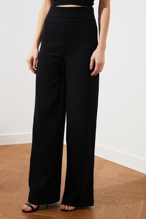 TRENDYOLMİLLA Siyah Yüksel Bel Nervür Detaylı Pantolon TPRSS20PL0105 2