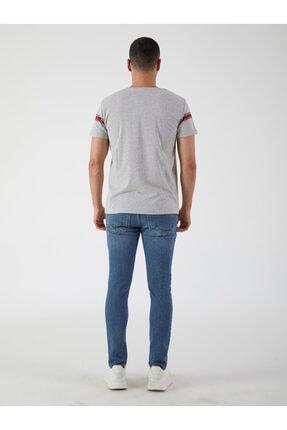 Ltb Erkek Gri  Baskılı  Kısa Kol Bisiklet Yaka T-Shirt-012208421960890000 3