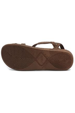 KAŞGAR Kadın Kahverengi Sandalet 2