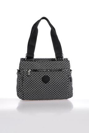 Smart Bags Smbky1125-0127 Siyah/beyaz Kadın Omuz Çantası 0