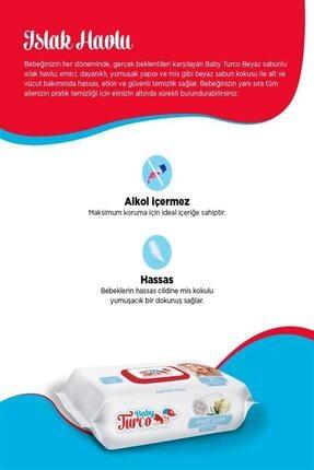 Baby Turco Beyaz Sabun Kokulu Islak Havlu 24X90 Lı 3
