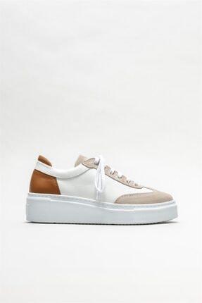 Elle Kadın Beyaz Deri Spor Ayakkabı 0