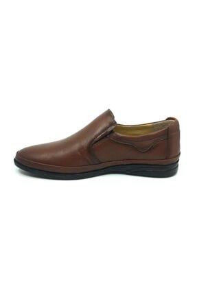 Taşpınar Erkek Kahverengi  Deri Ortopedik Günlük Yazlık Klasik Ayakkabı 40-44 2