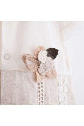 Mymio Kız Çocuk Önü Dantelli Elbise 2