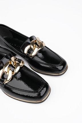 Marjin Kadın Siyah Rugan Loafer Ayakkabı Annar 2