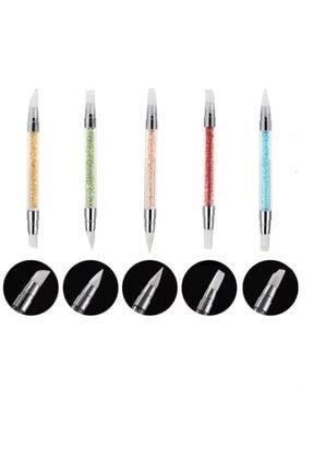 Venalisa Nail Art Fırça Silikon Tırnak Fırçası 5li Set 1