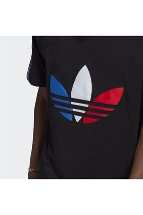 adidas Erkek Siyah Adicolor Tricolor Tişört 4