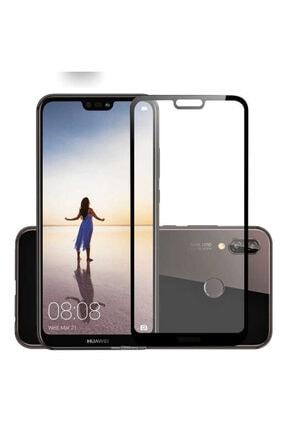 Huawei P20 Lite Kenarları Kırılmaya Dayanıklı Cam Ekran Koruyucu 0