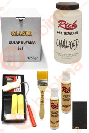 Rich Glance Dolap Boyama Antik Beyaz Tavalı Karma Rulo Set 0