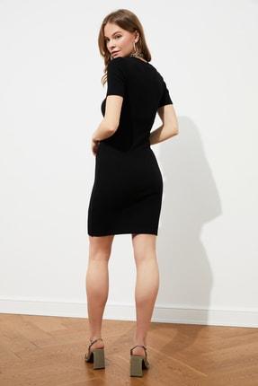 TRENDYOLMİLLA Siyah Mini Örme Elbise TWOSS19AD0053 4