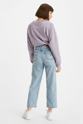 Levi's Kadın Açık Mavi Yüksek Bel Ribcage Straight Jean 2