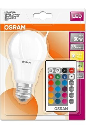 Osram Led Ampül Uzaktan Kumandalı Renk Değiştiren 9w 806 Lm E27 Duylu 1