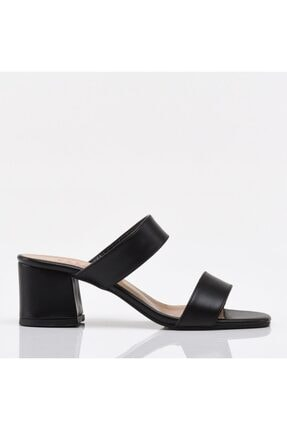 Hotiç Siyah Yaya Kadın Sandalet & Terlik 1