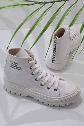 Bambi Beyaz Kadın Sneaker K01530110818 0