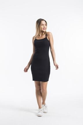 twentyone Kadın Siyah İp Askılı Mini Kaşkorse Elbise 2