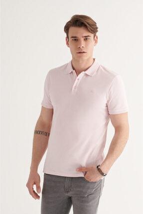 Avva Erkek Açık Pembe Polo Yaka Düz T-shirt A11b1146 2