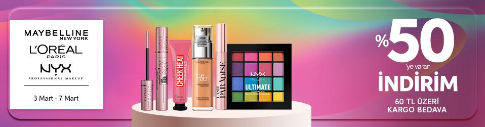 Maybelline New York & Lu0027oreal Paris & NYX Professional Makeup   Online Satış, Outlet, Store, İndirim, Online Alışveriş, Online Shop, Online Satış Mağazası