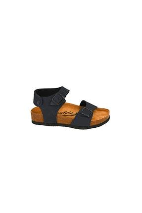 Moosefield Kids Hakiki Deri Lacivert Çocuk Sandalet 1
