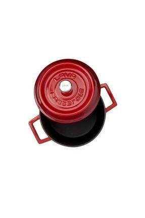 Lava Kırmızı Yuvarlak Döküm Trendy 24 Cm Tencere Lvytc24k2r 1